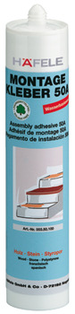 Adhesive, Assembly, Solvent Free, Tube 310 ml, Häfele