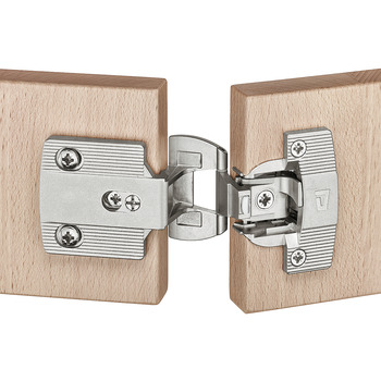 Architectural hinge, Aximat 300 SM, for full overlay mounting, 4 mm gap