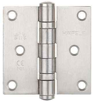 Butt Hinge, 2BB, 76 x 76 mm, Stainless Steel, Startec
