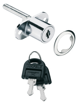 Central Locking Rotary Cylinder Lock, with Plate Cylinder, Standard Profile, for Screw Fixing, Econo