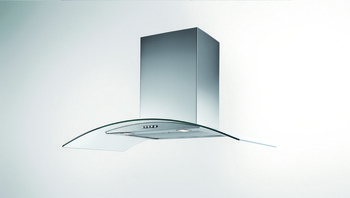 Chimney Hood, Twin R2 Curved Glass