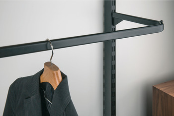 Clothes Hanger Rail, Inclined, Length 400 mm, Shoptec Shopfitting System
