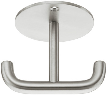 Coat Hook, Stainless steel, with 2 hooks, ceiling mounting