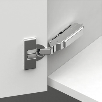 Concealed Cup Hinge, 110° Standard, Half Overlay/Twin Mounting, Click on Arm, Tiomos