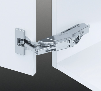 Concealed Cup Hinge, 160° Standard, Full Overlay Mounting, Click on Arm, Tiomos