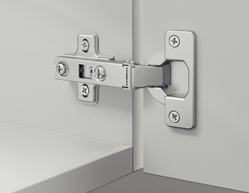 Concealed Cup Hinge, Häfele Metalla A 110°, inset mounting