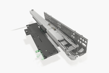 Concealed Drawer Runners, Full Extension, Packed Set with 4D Fixing Clips, Dynapro Tipmatic 40 kg