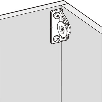 Connecting Fittings, Type 2, for 90º Panels, Button-Fix