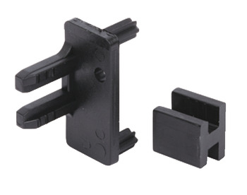 Connectors, with End Panel Cover, for Profiles, Gola System B
