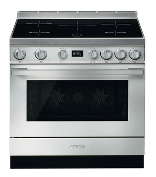 Cooker, Induction, Pyrolytic Multifunctional, Single Cavity, 900 mm, Smeg Portofino