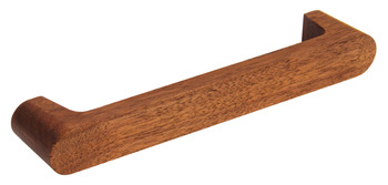 D Pull Handle, Walnut, Fixing Centres 160 mm, Skane
