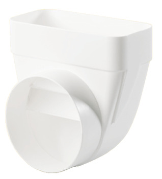 Deflector, White Plastic, System 125/150