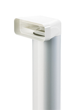 Deflector, with Tube, White Plastic, System 125/150