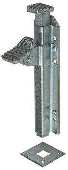 Door Bolt, Foot Operated, Max. Throw 23 mm, Mild Steel