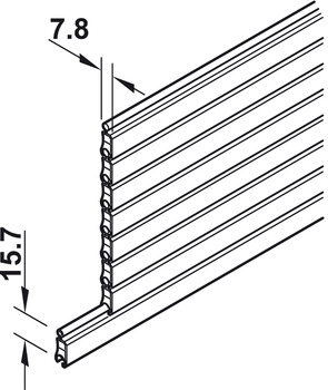 Door Slats, for Tambour Doors, Plastic