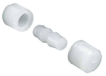 Dowel Connector, Plug-In, Natural-Coloured Nylon