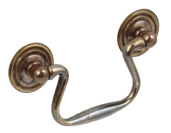 Drop Handle, Brass, Fixing Centres 64-76 mm, Cotswold