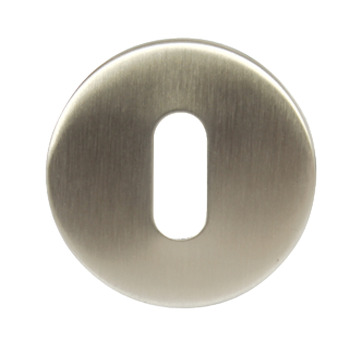 Escutcheons, for Startec Lever Handles, Standard Keyway, Ø 50 mm, Stainless Steel