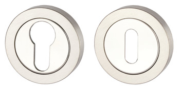 Escutcheons, for Startec Selma/Duo/Duke Lever Handles, Euro Profile Cylinder or Standard Keyway, 304 Stainless Steel