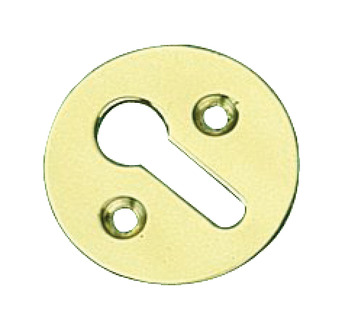 Escutcheons, Plain, Standard Keyway, Brass or Bronze