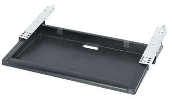 Extending Pencil Tray, Installed Length 475 mm, Width 655 mm, Height 109 mm