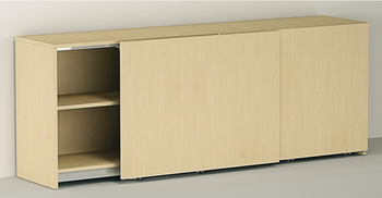 Fitting Set, for Flush Sliding Cabinet Doors, Eku-Frontino 20