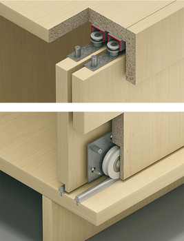 Fitting Set, for Sliding Cabinet Doors, Slido Classic 55 IF