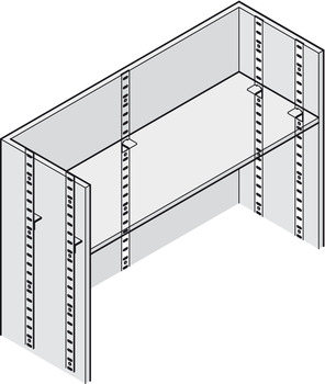 Flat Bookcase Strip, Flush Fitting, for Commercial Bookcases and Shelving