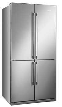 Fridge-Freezer , Freestanding, American Style, Four Door with MultiZone Compartment,Total Capacity 610 Litres, Smeg