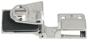 Glass Door Hinge, 170°, Middle