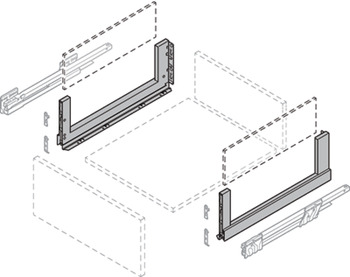 Glass Sides, for Crystal Plus Drawers, Nova Pro Scala
