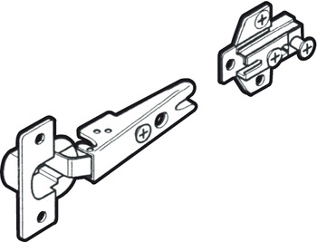 Hinge Set, for Overlay Pivot Sliding Cabinet Doors, Accuride 1432