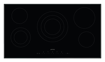 Hob, Ceramic, Touch Control with Angled Edge Glass, 900mm, Smeg