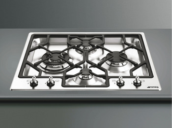 Hob, Gas, Ultra Low Profile with Additional Set of Linea Controls, 620 mm, Smeg Classic