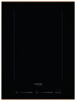 Hob, Induction with Single Multizone and Straight Edge Glass, 380 mm, Smeg Dolce Stil Novo