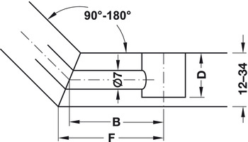 Joint Connector, for Ø 7 mm Holes, Double-Ended Hinged Bolt, Minifix GV Miltre