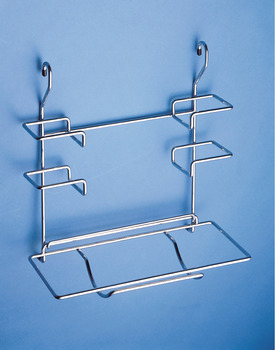 Kitchen Roll Holder, Three Tier, for Hanging on Railing, Depth 185 mm