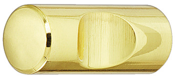 Knob, brass, cylindrical, with recessed grip