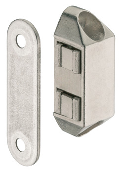 Magnetic catch, Pull 4.0 kg and 6.0 kg, for screw fixing, square