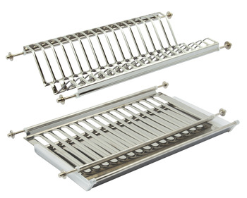 Plate Rack with Drainer Tray, Stainless Steel, for 500 mm Cabinets