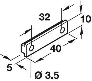 Plinth Bracket, for use with Plinth Clip