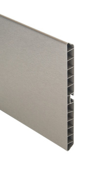 Plinth Panel, Stainless Steel Effect, PVC, Length 3000 mm