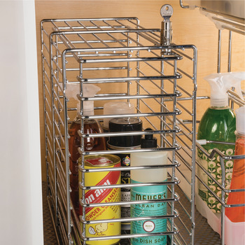 Pull Out Basket, for Cleaning Materials, Lockable