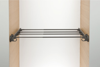 Pull Out Rack, Width Adjustable, Aluminium and Plastic, System Plus