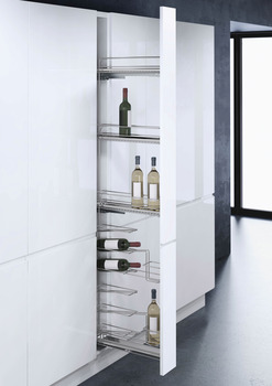 Pull Out Unit, with Baskets and Wine Rack for 150 mm Cabinet, VS WIRO