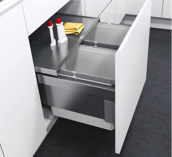 Pull Out Waste Bin, For Cabinet Width 450 mm, Vauth-Sagel VS ENVI Space Pro