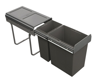 Pull Out Waste Bin, for Hinged Door Cabinets, Tek, 30 Litres