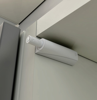 Push Door Catch, Concealed or Surface Mounted, Short Version, with Buffer, K Push Tech