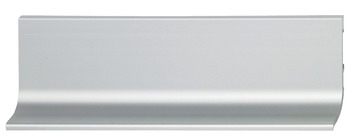 Recessed grip profile, horizontal, for handle-free appearance of