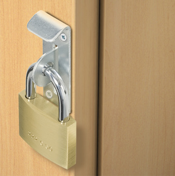 Safe Deposit Box Lock, for Use with Padlocks